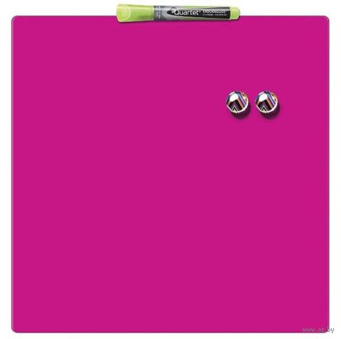 Магнитная квадратная доска ACCO Quartet (розовая; размер: 36х36 см)