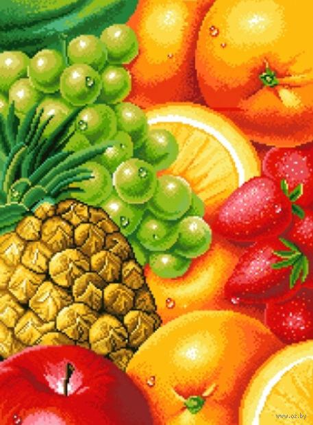 """Алмазная вышивка-мозаика """"Сочные фрукты"""""""