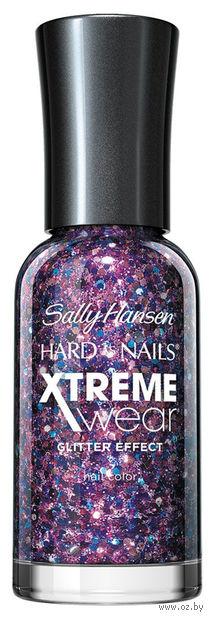 """Лак для ногтей """"Hard as nails xtreme wear"""" (тон: 450, фиолетовые блестки)"""