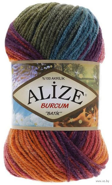 "Пряжа ""ALIZE. Burcum Batik №4827"" (100 г; 210 м) — фото, картинка"