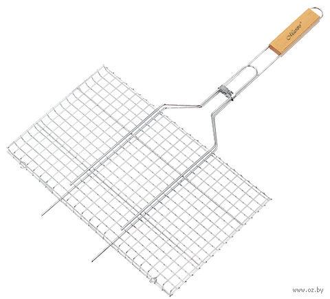 Решетка-гриль металлическая (26х45 см; арт. Mr-1005) — фото, картинка
