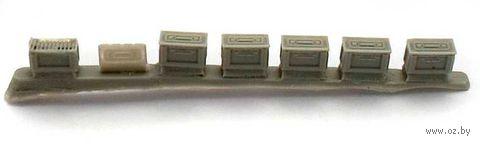 "Аксессуары ""Короб для пулеметной ленты 12,7 мм (США) 3 шт."" (масштаб: 1/35) — фото, картинка"