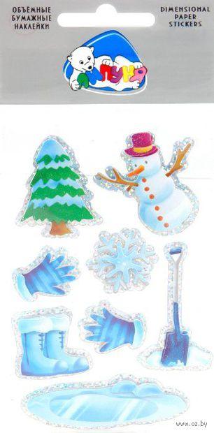 """Наклейки объемные бумажные """"Снеговик"""""""