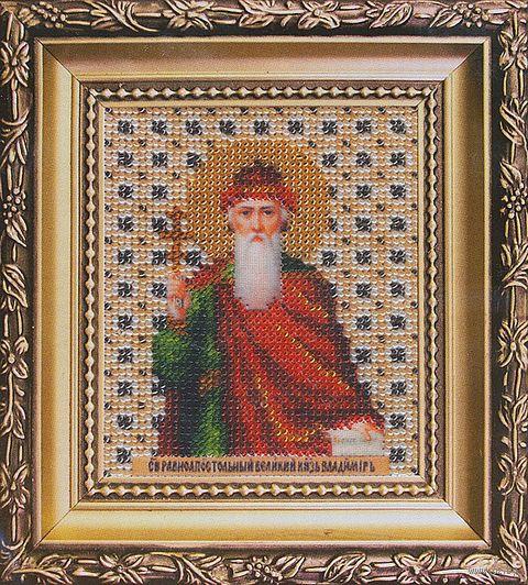 """Вышивка бисером """"Икона святой равноапостальный князь Владимир"""""""