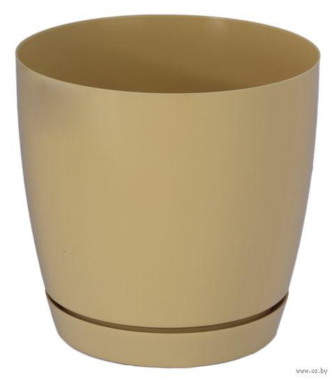 """Цветочный горшок """"Тоскана"""" (13 см; кофе латте) — фото, картинка"""