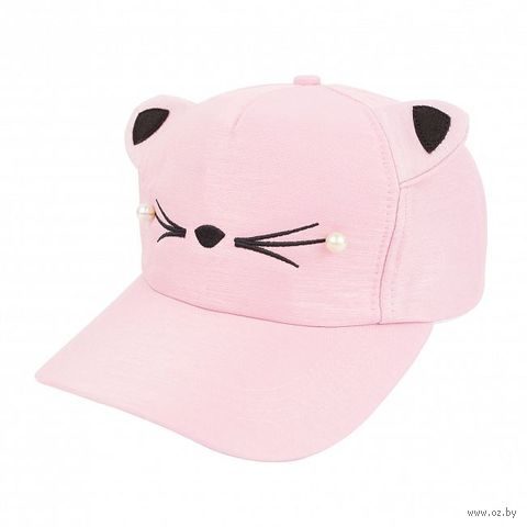 "Кепка с ушками ""Кот"" (розовая) — фото, картинка"