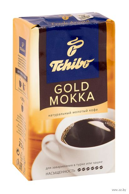 "Кофе молотый ""Tchibo. Gold Mokka"" (250 г) — фото, картинка"