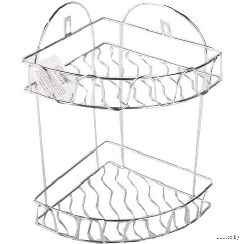 Полка для ванной металлическая 2-ярусная (21х27х31,4 см)