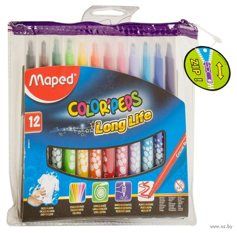 "Фломастеры ""Color Peps"" (12 цветов; арт. 845017LM) — фото, картинка"