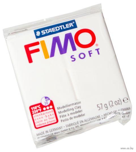 """Глина полимерная """"FIMO Soft"""" (белый; 56 г)"""