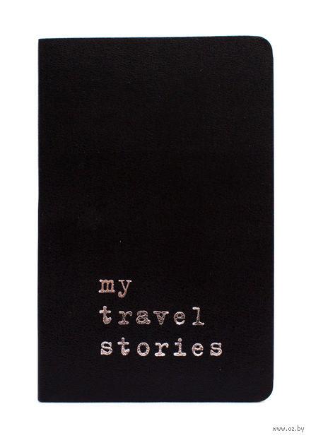 """Записная книжка Молескин """"Volant. My Travel Stories"""" нелинованная (карманная; мягкая черная обложка)"""