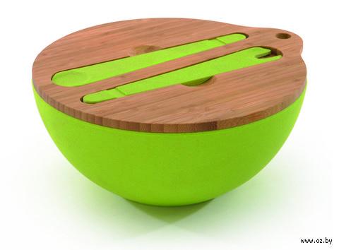 Салатник с крышкой и сервировочным набором (3 л) — фото, картинка