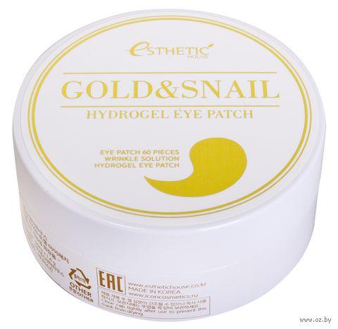 "Патчи для кожи вокруг глаз ""Gold and Snail"" (60 шт.) — фото, картинка"