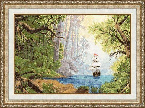 """Вышивка крестом """"Тропический рай"""""""