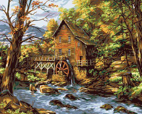 """Картина по номерам """"Водяная мельница"""" (410х510 мм; арт. PLD-21779)"""