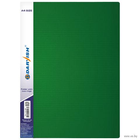 """Папка """"Darvish"""" на 2-х кольцах DV10-2K (А4/35 мм; цвет: зеленый)"""