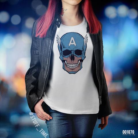 "Футболка женская ""Капитан Америка"" S (1070)"