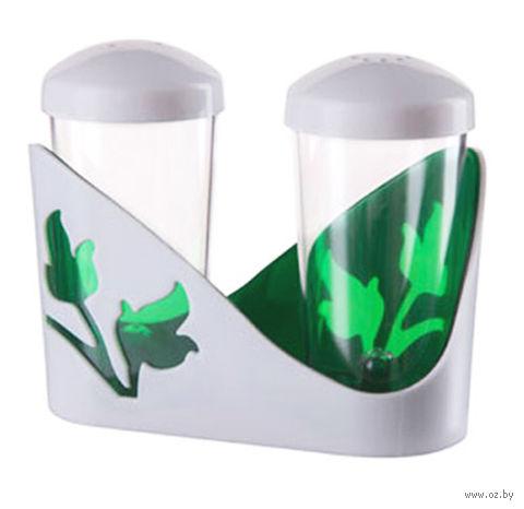 """Набор для специй """"Viola"""" (зеленый полупрозрачный) — фото, картинка"""