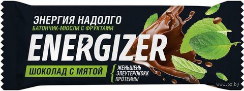 """Батончик """"Energizer. Шоколад с мятой"""" (40 г) — фото, картинка"""