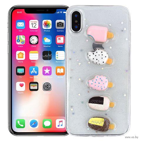 """Чехол для iPhone X/XS """"Kawaii ice-cream"""" — фото, картинка"""