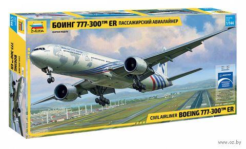 """Сборная модель """"Пассажирский авиалайнер Боинг 777-300ER"""" (масштаб: 1/144) — фото, картинка"""
