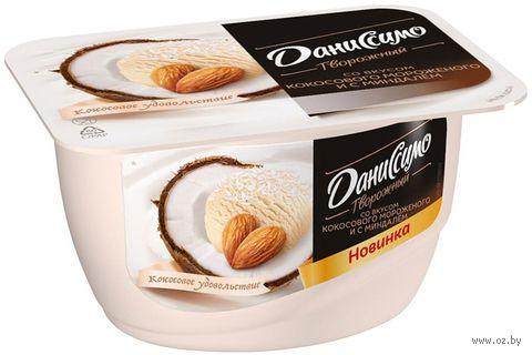 """Десерт творожный """"Даниссимо. Кокосовое мороженое и с миндаль"""" (130 г; 6%) — фото, картинка"""