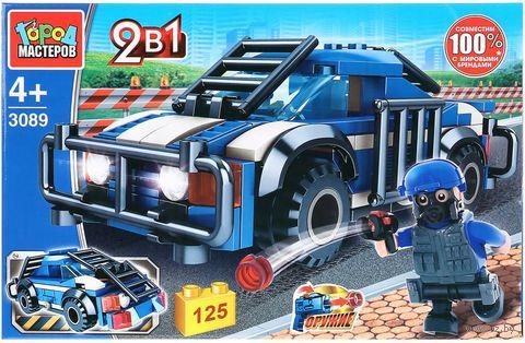 """Конструктор """"Полиция. Полицейская машина 2 в 1"""" (125 деталей) — фото, картинка"""