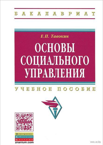 Основы социального управления. Евгений Тавокин