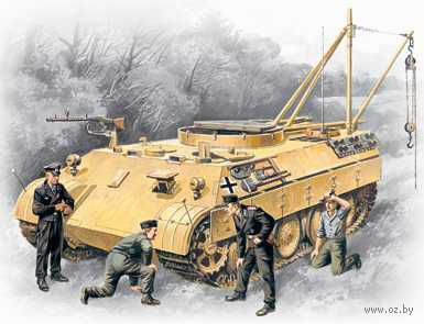 Бергепантера с немецким танковым экипажем (Масштаб: 1/35) — фото, картинка
