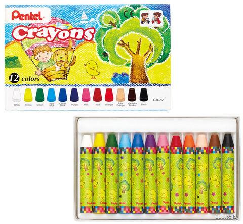 """Мелки восковые """"Crayons"""" (12 цветов)"""