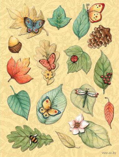 """Стикеры для скрапбукинга """"Листья. Секреты природы"""""""