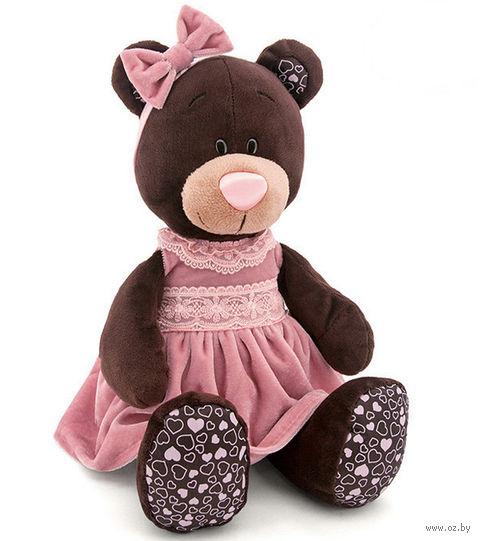 """Мягкая игрушка """"Медведь Milk в розовом бархатном платье"""" (50 см) — фото, картинка"""