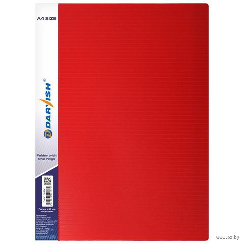 """Папка """"Darvish"""" на 2-х кольцах DV10-2K (А4/35 мм; цвет: красный)"""