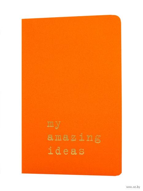 """Записная книжка Молескин """"Volant. My Amazing Ideas"""" в линейку (карманная; мягкая оранжевая обложка)"""