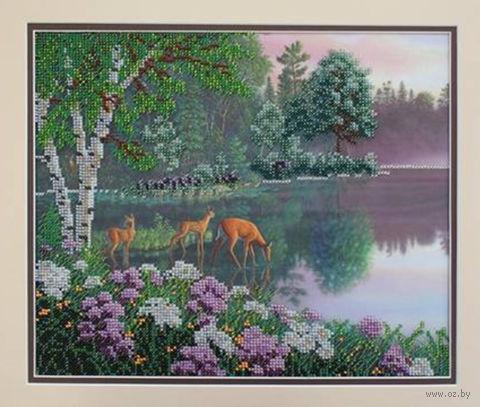 "Вышивка бисером ""Волшебное озеро"" (300х250 мм) — фото, картинка"