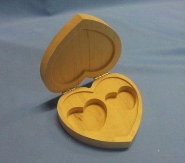 Шкатулка для обручальных колец (арт. МВ00410) — фото, картинка