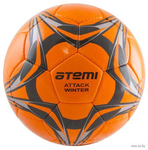 """Мяч футбольный Atemi """"Attack winter"""" №5 (оранжевый) — фото, картинка"""