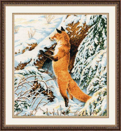 "Вышивка крестом ""Рыжая охотница"" (270х310 мм) — фото, картинка"