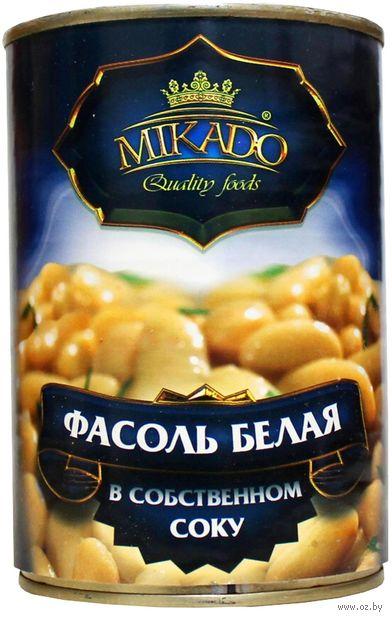 """Фасоль белая """"Mikado"""" (425 мл) — фото, картинка"""