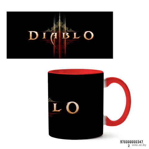 "Кружка ""Diablo"" (347, красная)"