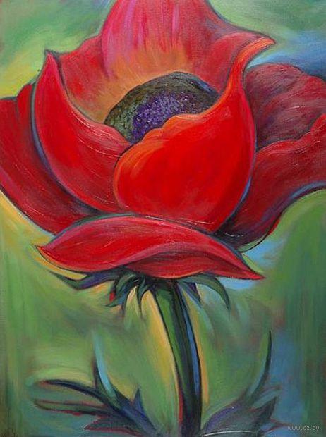 """Алмазная вышивка-мозаика """"Аленький цветочек"""" (240х300 мм) — фото, картинка"""