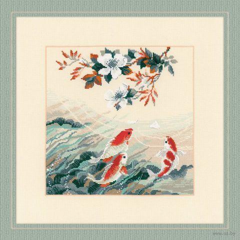 """Вышивка крестом """"Танцующие рыбки"""" (400х400 мм) — фото, картинка"""