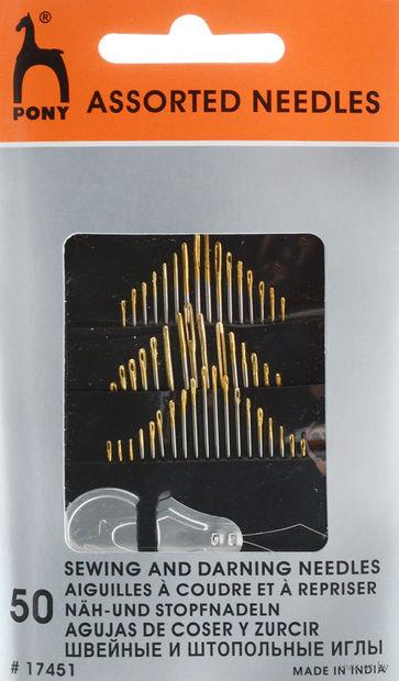 Иглы для шитья (50 шт.; арт. 17451) — фото, картинка