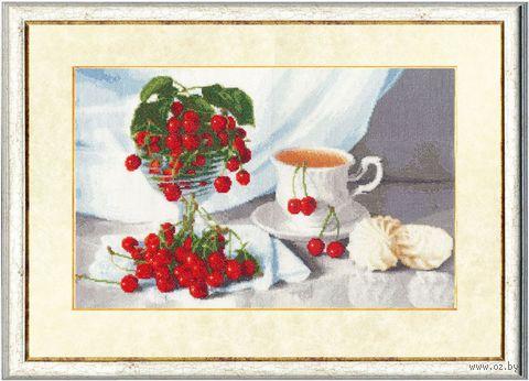 """Вышивка крестом """"Вишневый чай"""""""