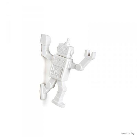 """Магнитный крючок для холодильника """"Robohook"""" (белый)"""