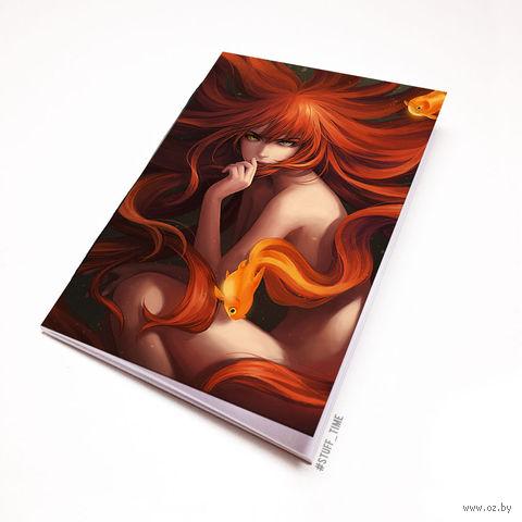 """Блокнот """"Девушка и золотые рыбки"""" (А5; арт. 797) — фото, картинка"""