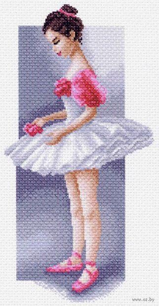 """Канва с нанесенным рисунком """"Маленькая балерина"""""""