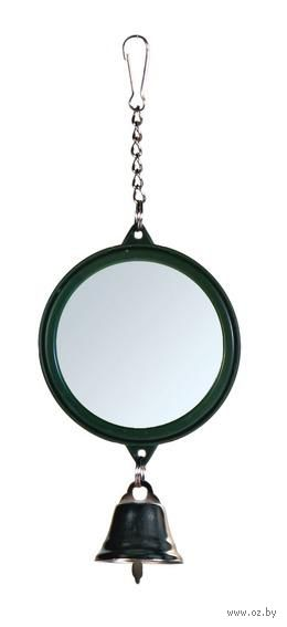 """Игрушка для птиц """"Зеркальце с колокольчиком"""" (5,5 см) — фото, картинка"""