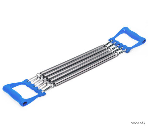 Эспандер плечевой ES-101 5 струн (металлический; синий) — фото, картинка