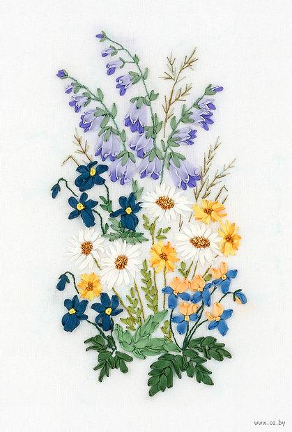 "Вышивка лентами ""Лирика сада"" (90х160 мм) — фото, картинка"
